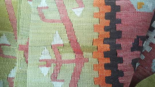 Kilim Rug Hole Repair After