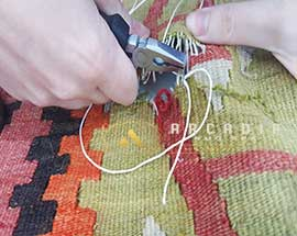 Kilim Hole Repair During