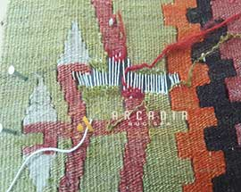 Kilim Hole Repair Reweave