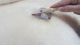 How to Brush a Sheepskin hide